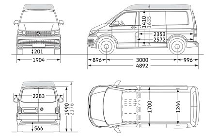 Vw Transporter Dimensions
