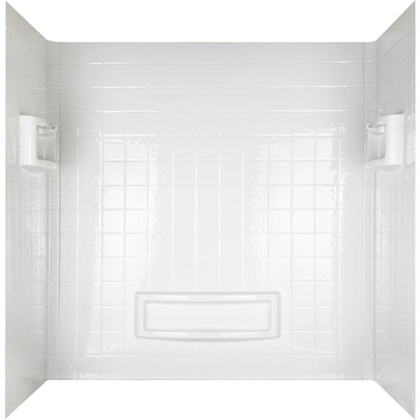 Mirolin 31 In X 60 In White Acrylic Shower Wall Surround Side And