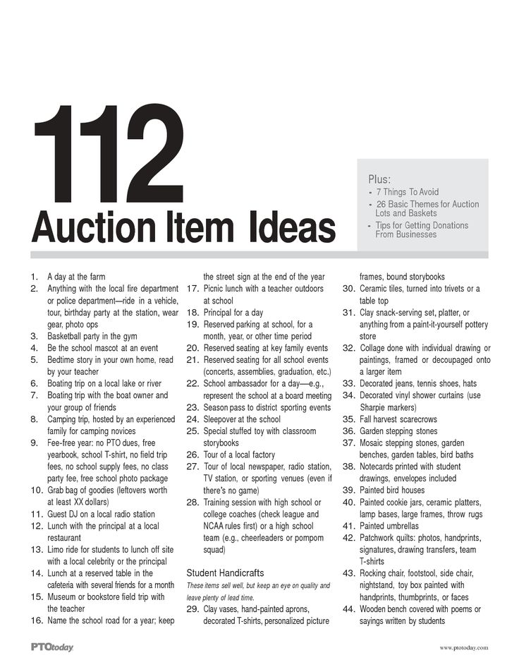 silent auction ideas - Google Search
