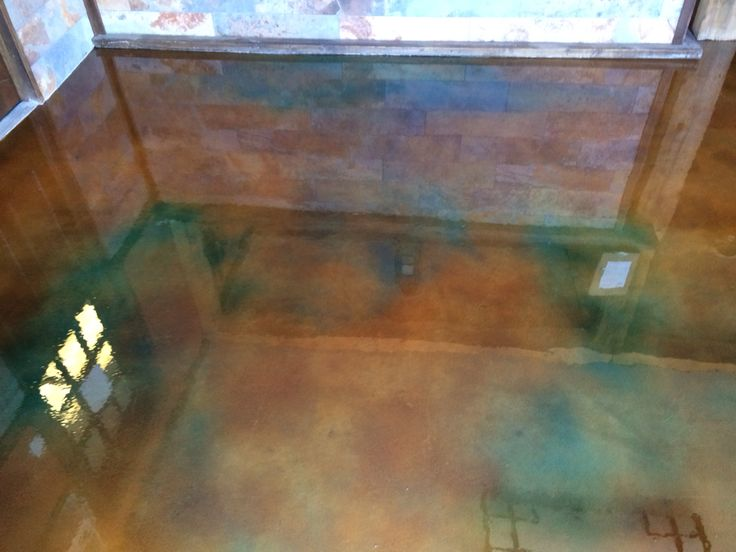 Interior Concrete Stain With Clear Epoxy Top Coat Colors