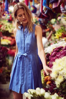 Printemps Linen Shirtdress - anthropologie.com