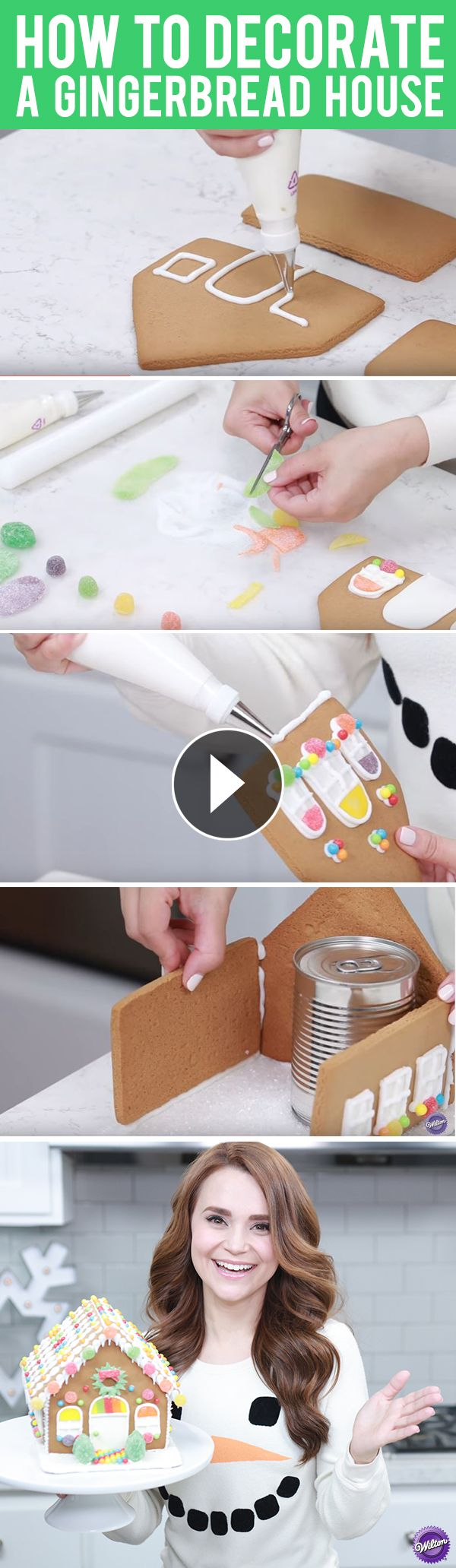How to Decorate a Gingerbread House - Rosanna Pansino of Nerdy Nummies makes it easy for you to decorate your gingerbread house! Watch these six helpful tips on how to decorate and assemble a gingerbread house, so you can be ready for this fun holiday activity with your family and friends!