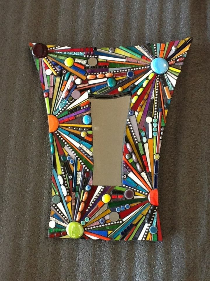 Mirror in lively colors and shapes