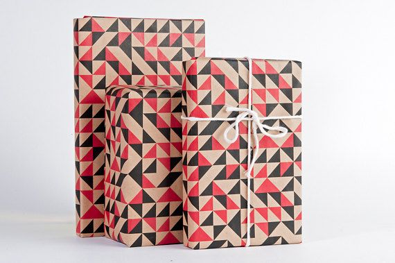 Geometric Quilt Wrapping Paper by NormansPrintery on Etsy, $12.00