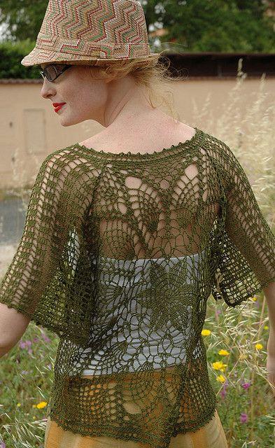 Crochet Lace Pineapple Top