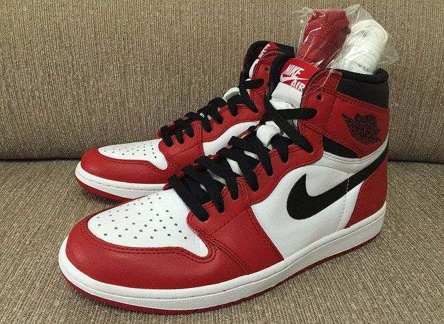 Air Jordan 1 High - White - Varsity Red - Black | Air jordan, Red black and  Retro
