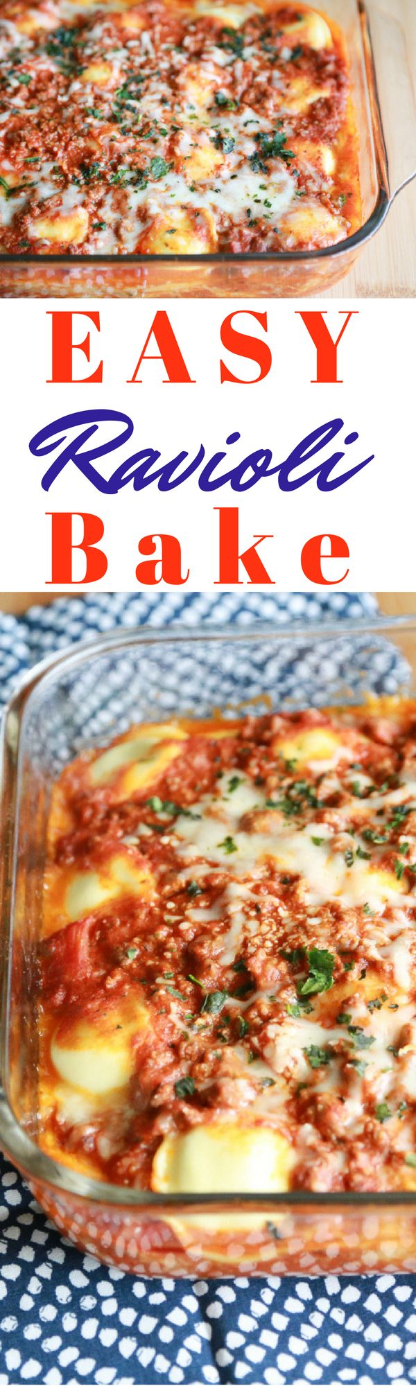 Spend less time in the kitchen and more time with your family with this Easy Ravioli Bake recipe.