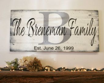 Home Sweet Home Initial Sign Pallet Sign by RusticlyInspired