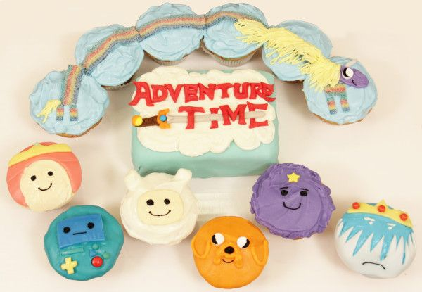 Adventure Time Cupcakes! Nerdy Nummies <3 I have to make these for Brittany's birthday