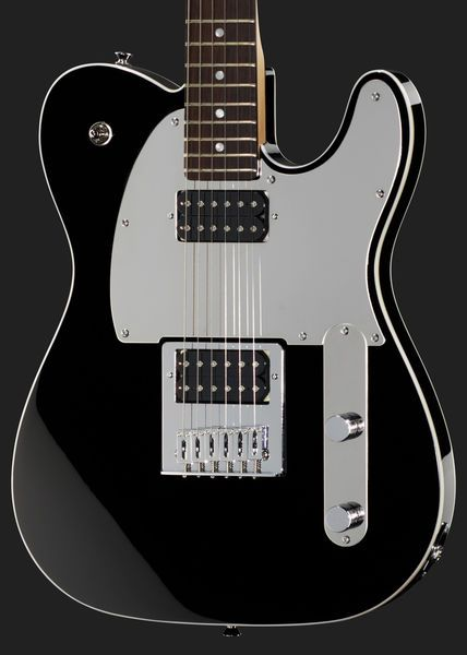Fender Squier John5 Signature Telecaster - electric guitar, alder body, maple neck, rosewood fretboard, 22 frets, chrome hardware, thomann 2x custom designed humbucker pickups. chrome pickguard, Colour: Black