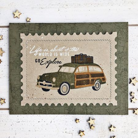 Go Explore Card by Heather Nichols for Papertrey Ink (July 2017)