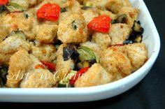 Bocconcini di pollo panati al forno con verdure