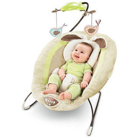 Fisher-Price - My Little Snugabunny Bouncer, Green