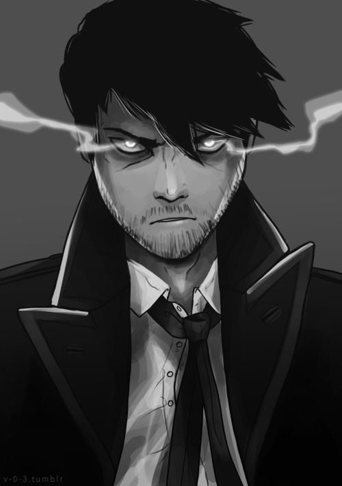 """ryokogirle:v-0-3:""""Don't touch my boyfriend."""" Jealous Castiel in black is perfect combination.oooo that's hot"""