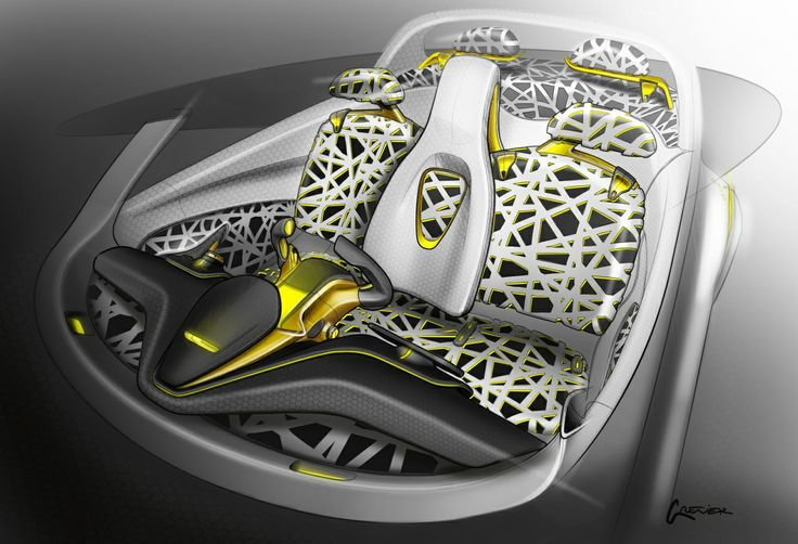 Sketch made by F. Grenier - #Designer. Relive the #Design birth of the #Renault #Kwid #conceptcar. (c) Droits réservés Renault