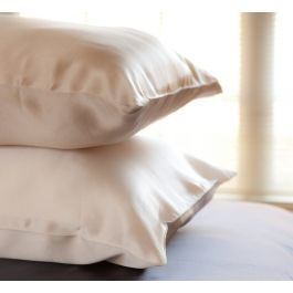 Silk pillowcases. Always so soft (&cold;) and is good for your hair and in preventing those morning wrinkles.