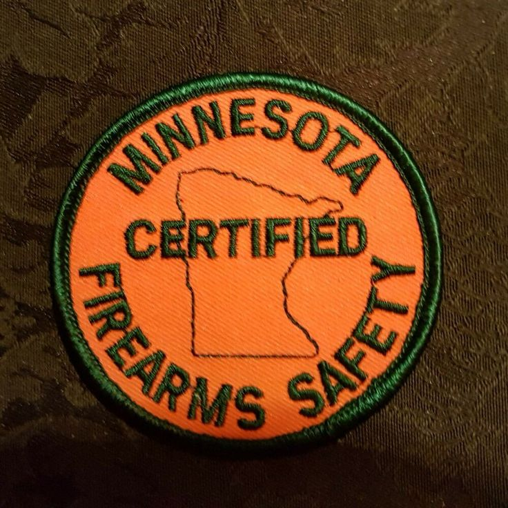 Vtg 1980s Minnesota Certified Firearms Safety Badge Patch
