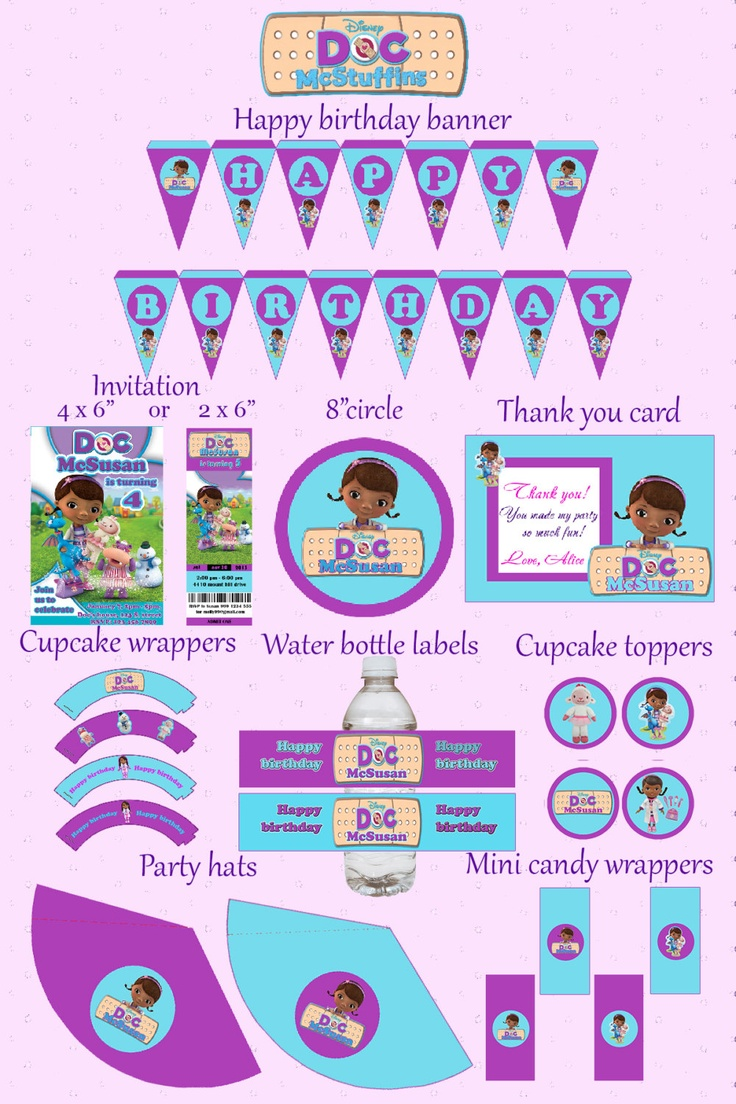 108 Best Doc Mcstuffins Images On Pinterest Toys Birthdays And