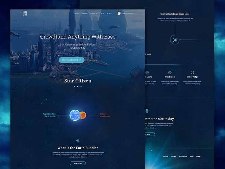 Commerce System Landinge Page (Space Version 2) by Hoang Nguyen