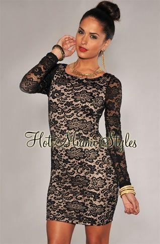 Bebe black lace overlay v neck kardashian dress beyonce