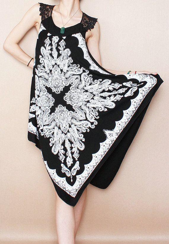 Plus Size Dress, Summer Dress, Silk Dress, Floral Dress, Luxury Dress on Etsy, $50.61 CAD