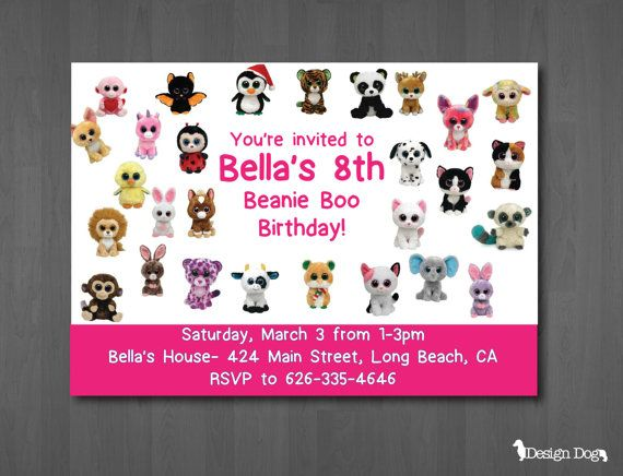 1000+ images about Beanie boo birthday on Pinterest ...