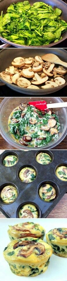 Recette - muffing : epinard champignon