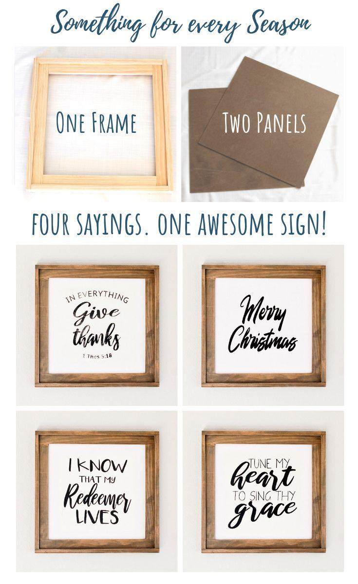 Einfaches DIY hölzernes Zeichen. Vier Zeichen in EINEM! Thanksgiving, Weihnachten, Ostern und Sommer …