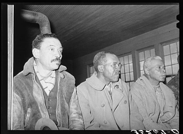 Negro farmers at soil conservation meeting at Vernon, Oklahoma