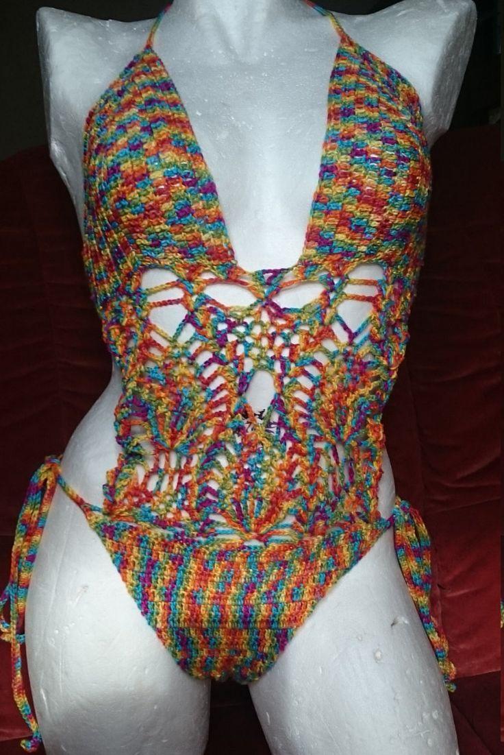maillot de bain 1 piéce trikini femme taille 38/40 fabriqué 100% coton de la boutique leloquencedelisa sur Etsy