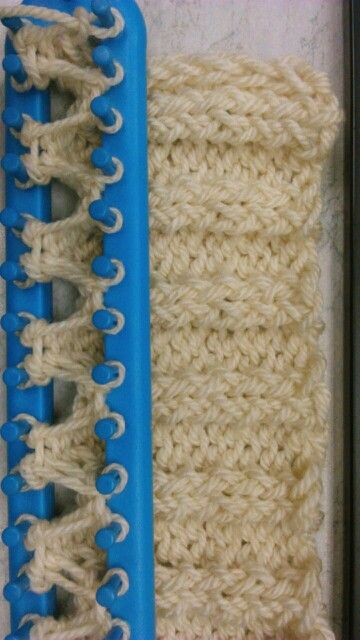 Box stitch. with knifty knitter