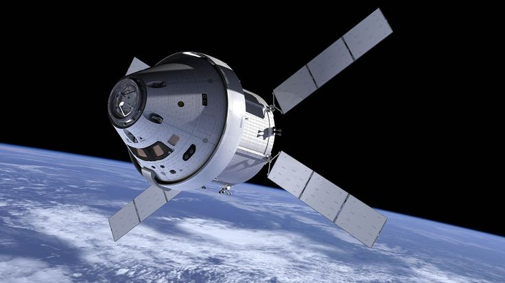 The Orion Spacecraft - artist rendition - Orion Multi-Purpose Crew Vehicle (MPCV) is a planned, beyond-low Earth orbit (LEO) manned spacecraft that is being built by Lockheed Martin for NASA, and Astrium for the European Space Agency for crewed missions to the Moon, asteroids and Mars. It is planned to be launched by the Space Launch System. Each Orion spacecraft is projected to carry a crew of 2–6 astronauts. It is also planned as a backup for ISS cargo and crew delivery