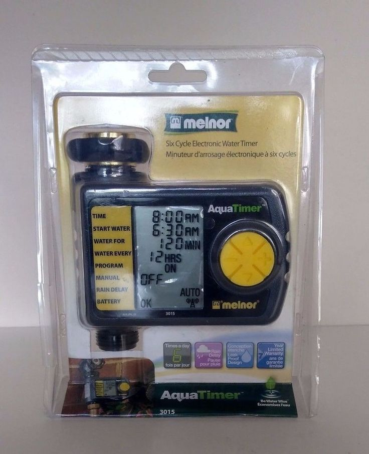 Melnor Six Cycle Electronic Water Timer 3015 #Melnor #WateringTimers