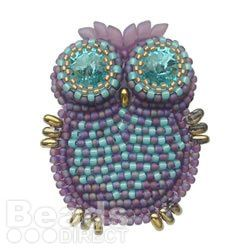 Beaded Owl with instructions - a nice little bead embroidery project  ~ Seed Bead Tutorials