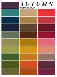 Autumn colour clothing palette