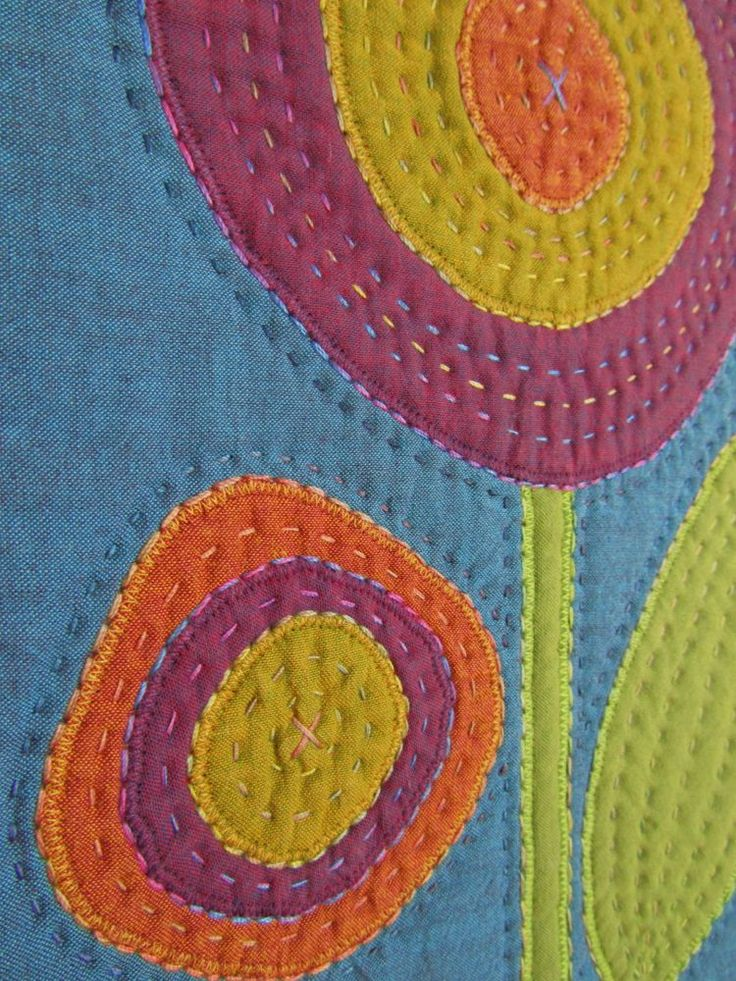 I love Victoria Gertenbach's big quilting stitches! Like she says... A Stitch a Day Keeps the Doctor Away!