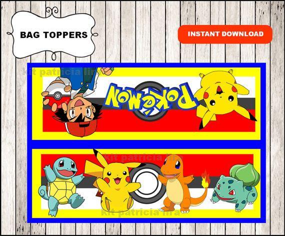 Pokemon bags toppers instant download Pokemon door kitpatricialira
