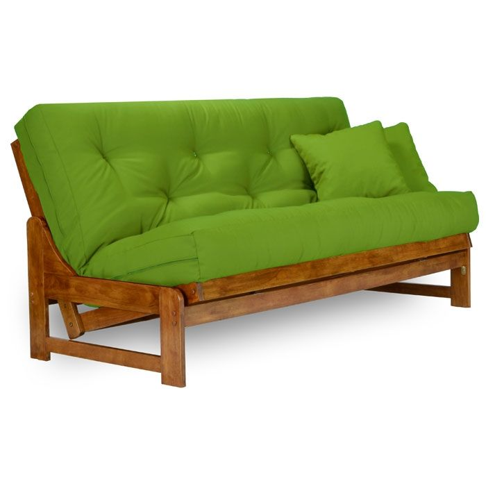 This wood futon frame is timeless and has a nice contemporary look. It's armless so it takes up less space. http://www.futoncreations.com/arden-wood-futon-frame-armless-nf.html