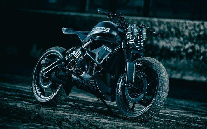 Télécharger fonds d'écran Kawasaki Vulcan S 650, la personnalisation, l'ICÔNE de 1000, au réglage, à 2016 des vélos, des superbikes, Kawasaki