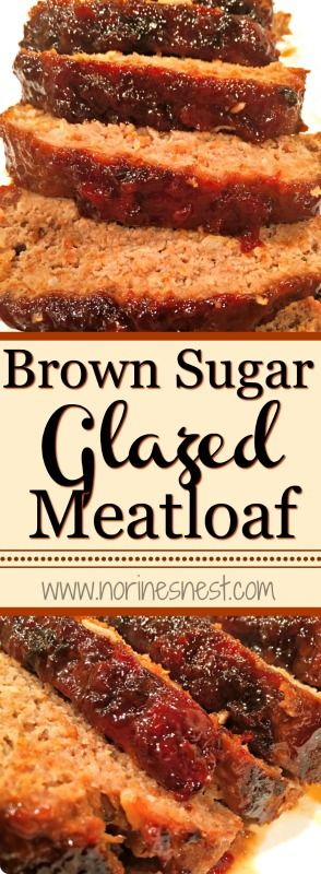 This Brown Sugar Glazed Meatloaf is the BEST meatloaf around! So delicious and so easy to make! You HAVE to try this recipe...YUM to the double YUM!