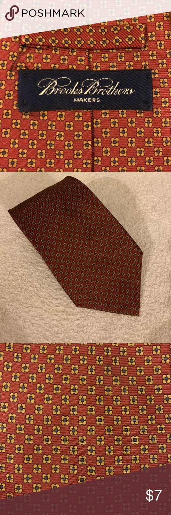 Brooks Brothers Brick Red w/ Tan & Navy Check Tie Brooks Brothers Brick Red with Tan and Navy Blue Check Silk Necktie! Great condition! Please make reasonable offers and bundle! Ask questions! Brooks Brothers Accessories Ties