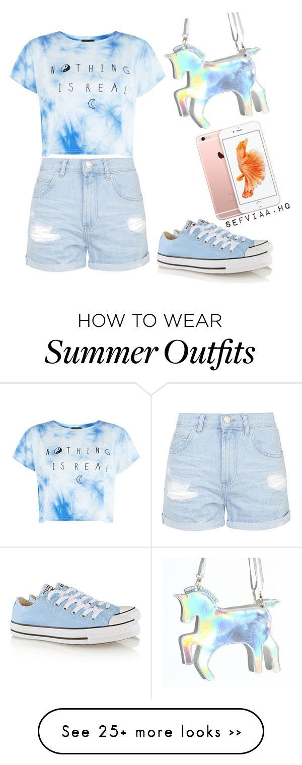 summer outfit by sefviaahq on Polyvore featuring Topshop and Converse
