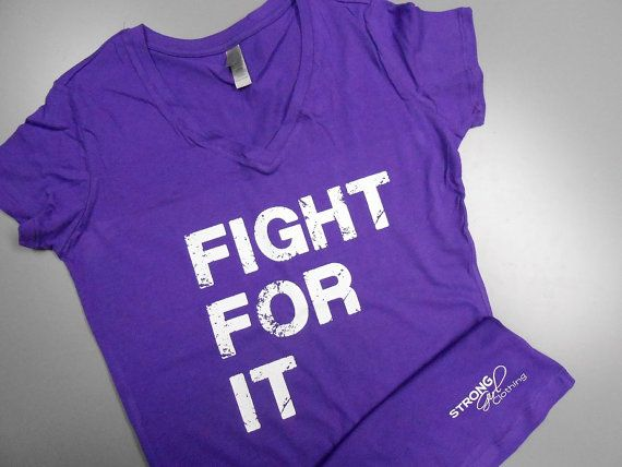 Fight For It V-Neck T-Shirt. Crossfit Shirt. Womens Workout T-Shirt. Running Shirt. Workout Shirt. Gym Shirt