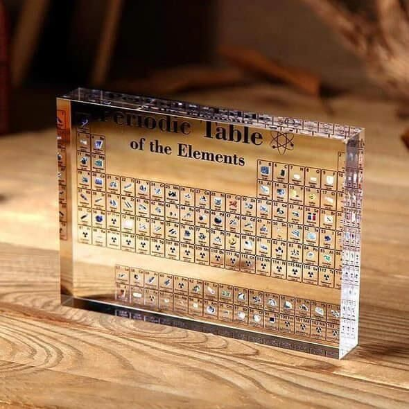 Free Shipping Worldwide Collectable Periodic Table With Real Elements Snowyguitar Periodic Table Periodic Elements Table Display