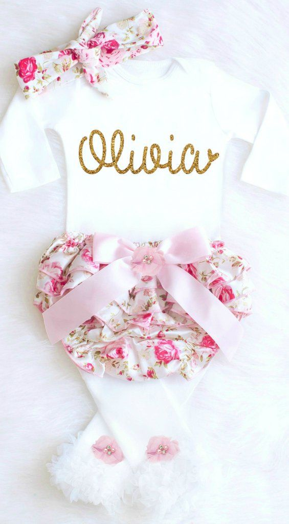 051d2a531 Personalized baby girl outfit