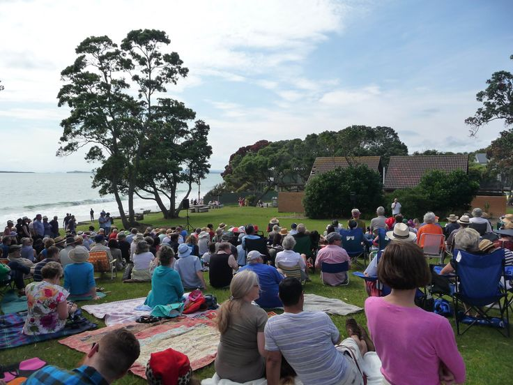 Christmas morning at the beach reserve (park) annual performance of scene from 'The End of the Golden Weather'.