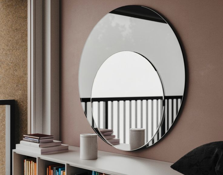 Art deco mirror antique inspired large oblong wall mirror