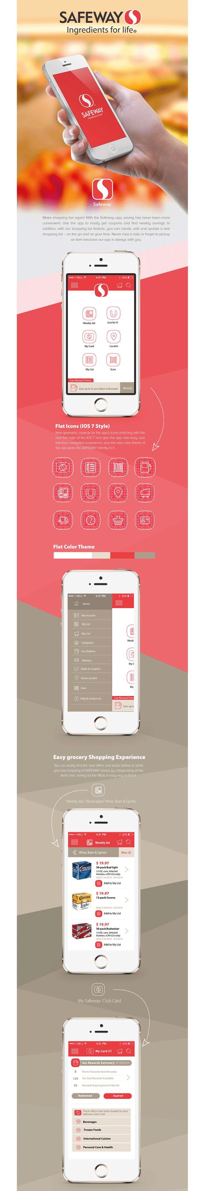 Safeway app new look proposal Markt market geolocalisation app ios iphone restaurant food
