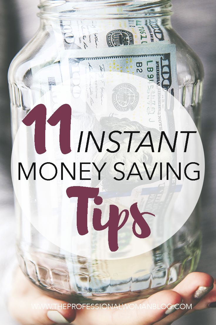 Instant money saving tips that are easy to implement. Learn how to save money instantly with these money saving tips.