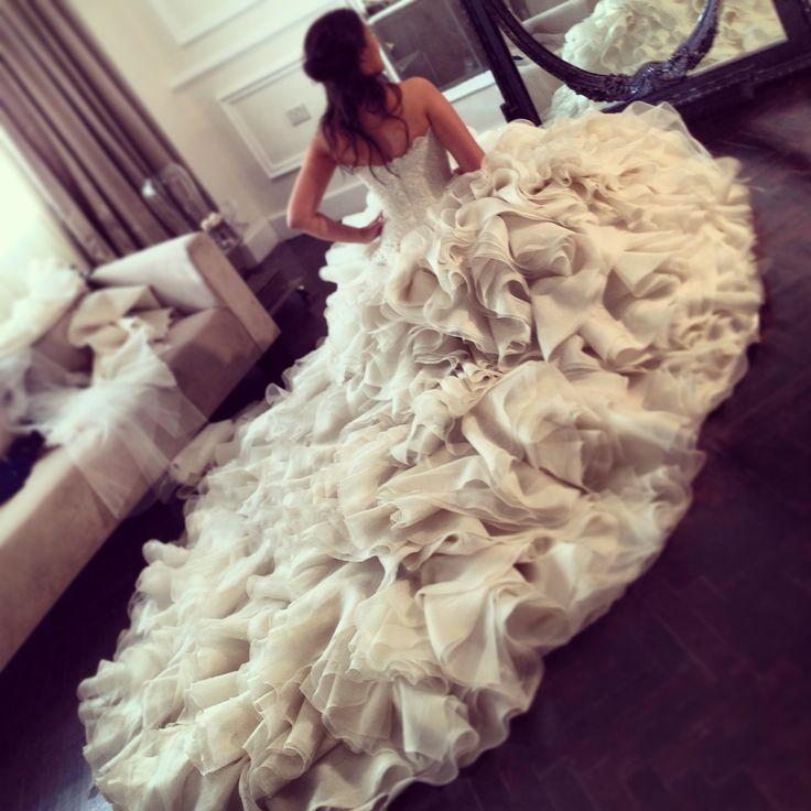Donia Samir Ghanem in Yasmine Yeya couture bridal
